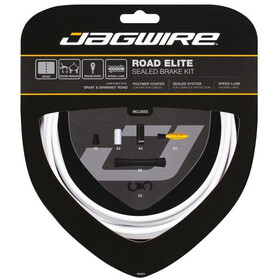 Jagwire Road Elite Sealed Cables de freno, white